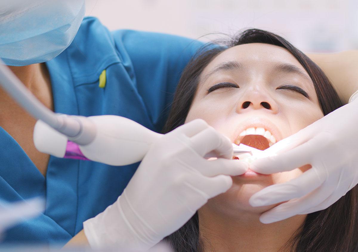 Woman at the dental