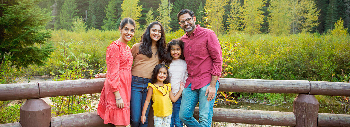 Dr. Tina Subherwal with her loving family